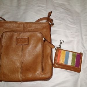 Fossil handbag & coin purse